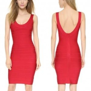 Herve Leger Sydney Bandage Wrap Dress - M